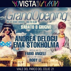 Disco Vista Club Roma Apertura 2013