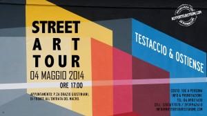 STREET ART TOUR TESTACCIO OSTIENSE 4 MAGGIO