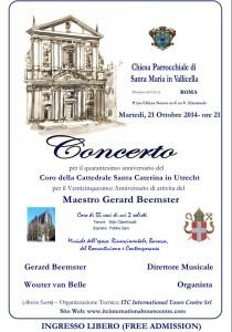 Concerto Roma 21 Ottobre 2014